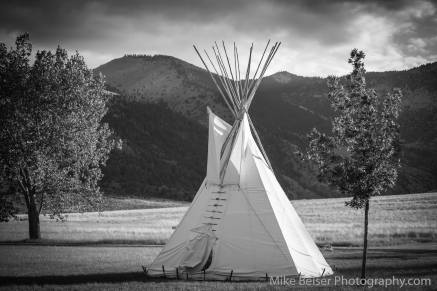 Demonstration tepee, Lewis and Clark Caves, Montana.