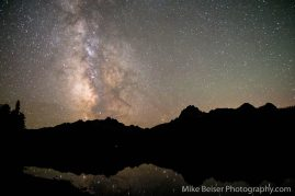Star-rise 9/12/15 over the Sawtooth Range, Red Fish Lake, Idaho. Wedding Day - Gena and Hud